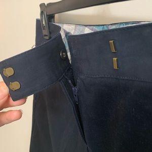 J. Crew Cotton Navy Skirt -Size 0